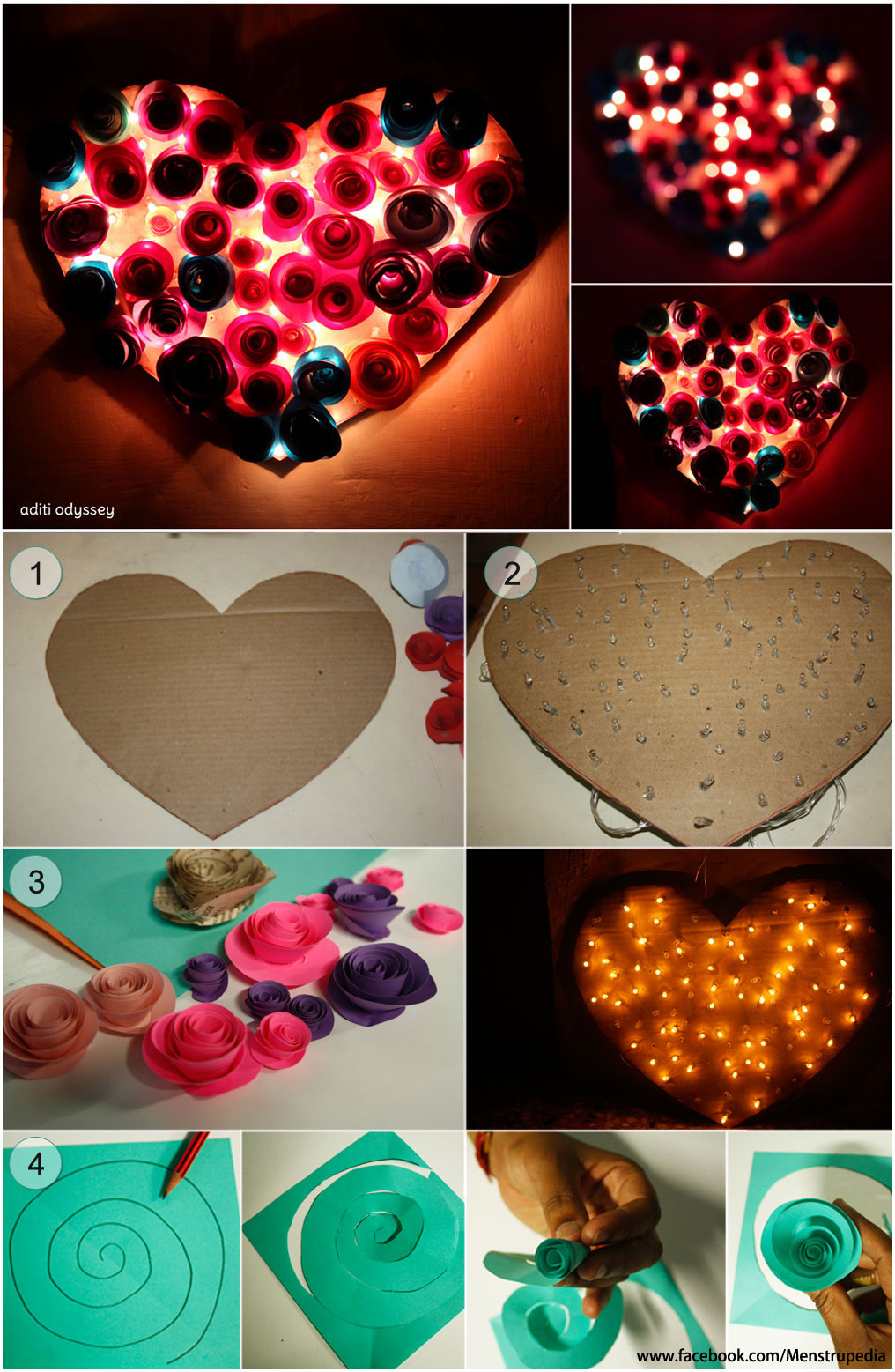 Valentineus Day Special A Diy Heart Lamp Cut Card Board In Shape With How To Make Paper Lanterns Step By